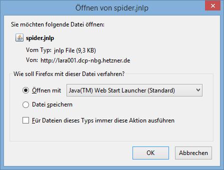 jnlp-файл следует открыть в JAVA