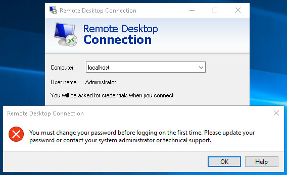 change windows administrator password remotely